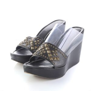 Donald J Pliner Couture Stima Black Sandals Wedges